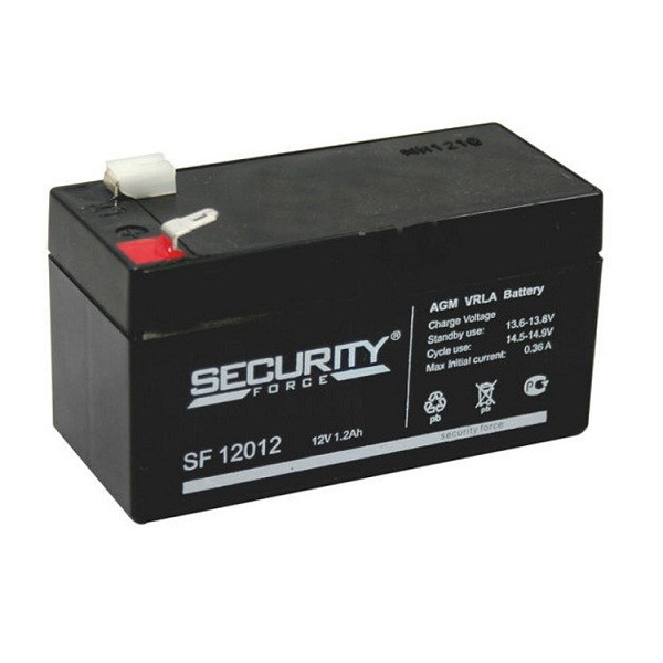 аккумулятор, Security, SF, 12V, 12В, 1,2Ач