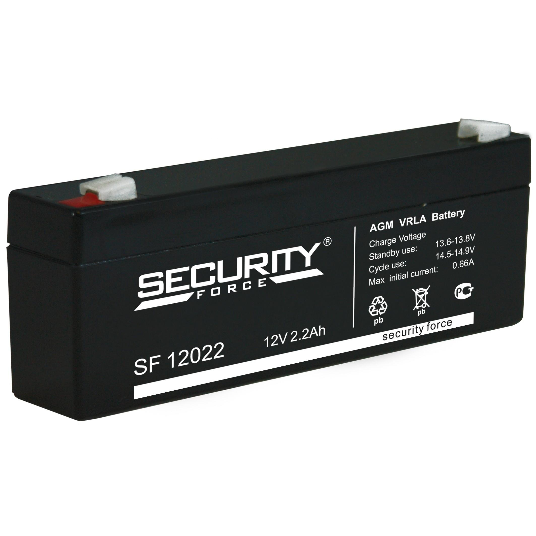аккумулятор, Security, SF, 12V, 12В, 2,2Ач