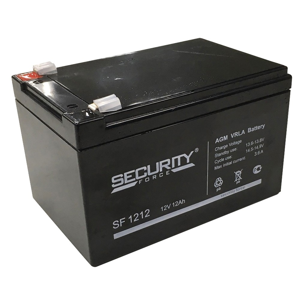 аккумулятор, Security, SF, 12V, 12В, 12Ач
