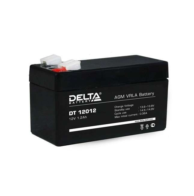 аккумулятор, 1,2Ач, 12В, 12V, DT, Delta