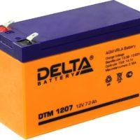 аккумулятор, DTM, Delta, 12V, 12В, 7Ач