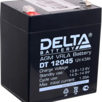 аккумулятор, 4,5Ач, 12В, 12V, Delta, DT