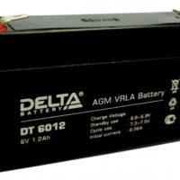 аккумулятор, 1,2ач, 6в, DT, delta, 6V