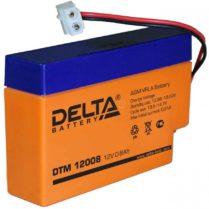 аккумулфятор, Delta, DTM, 12V, 12В, 0,8Ач