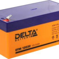 аккумулфятор, Delta, DTM, 12V, 12В, 3,2Ач