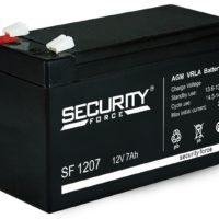 аккумулятор, Security, SF, 12V, 12В, 7Ач