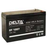 аккумулятор, 7Ач, 12В, 12V, DT, Delta