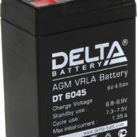 аккумулятор, DT, Delta, 6V, 6В, 4.5Ач